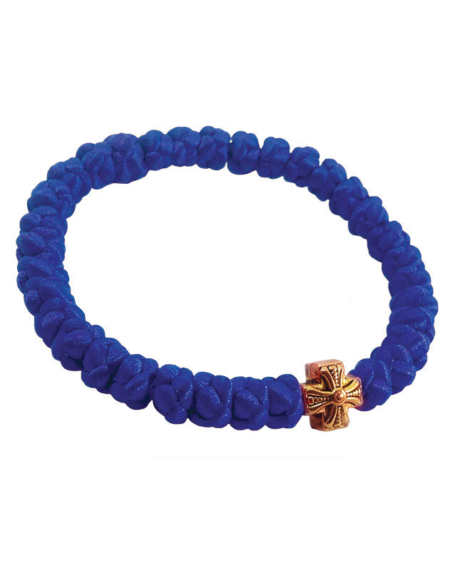 Satin prayer bracelet - blue