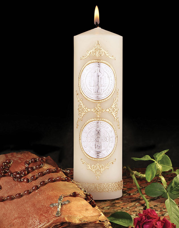St Benedict Wax Relief Candle