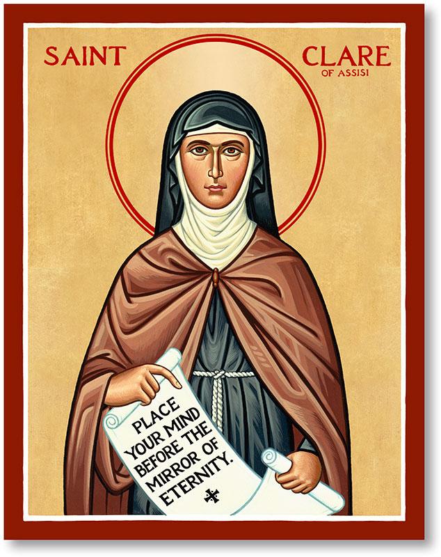 Saint Clare Icon Magnet