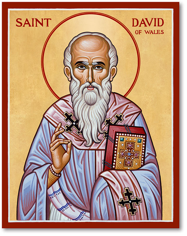 St. David of Wales Icon