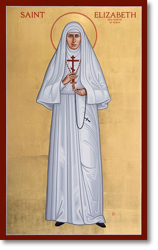 """St. Elizabeth the New Martyr original icon 48"""" tall"""
