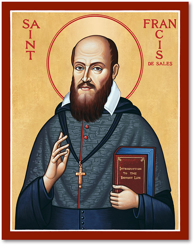 Men Saint Icons St Francis De Sales Icon Monastery Icons