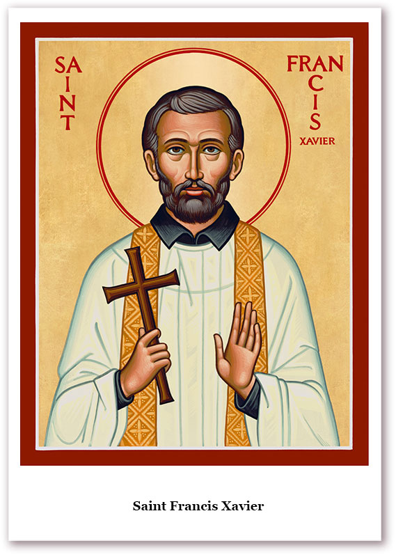 St. Francis Xavier Holy Cards