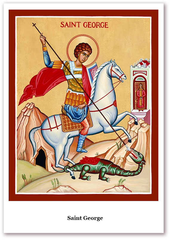 St. George Holy Cards