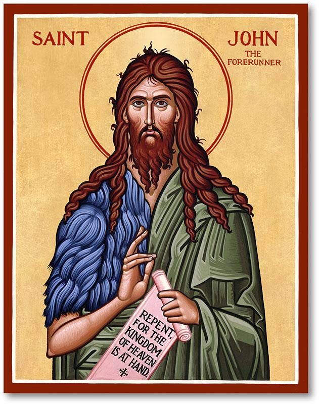 Men Saint Icons: St. John the Baptist Icon | Monastery Icons