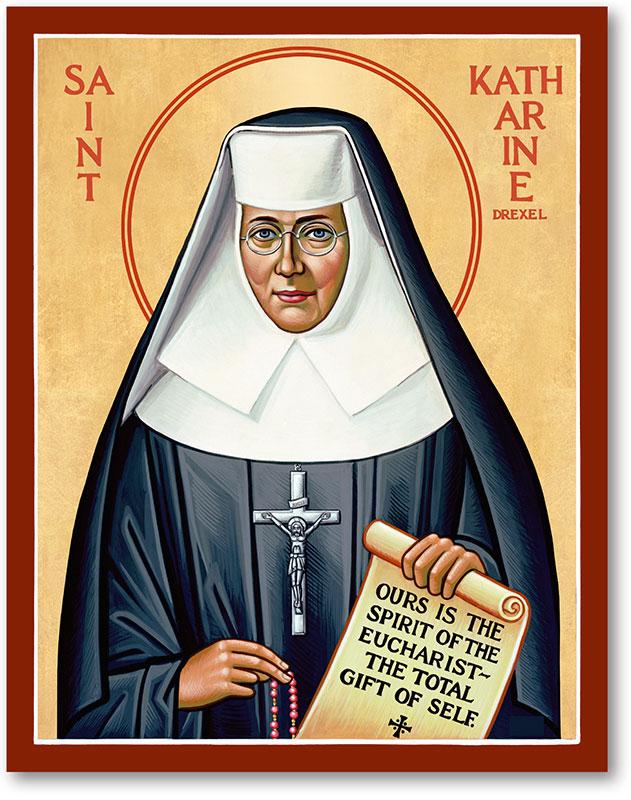 Saint Katherine Drexel Icon Magnet