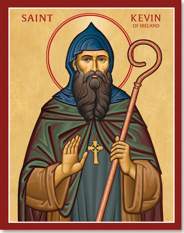 St Kevin of Ireland Icon