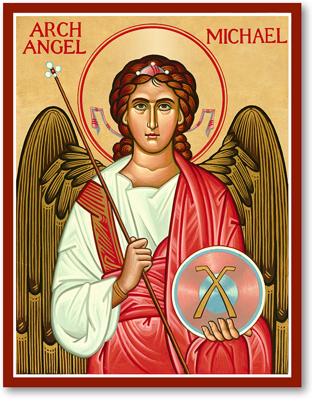 Icons of the Holy Angels: St. Michael Icon   Monastery Icons