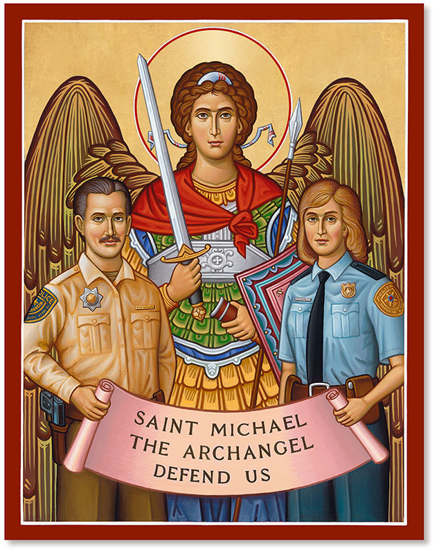 Saint Michael Protector of Police Icon