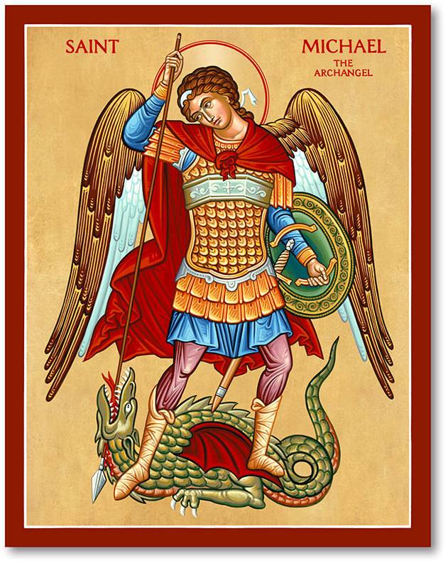 St Michael the Defender icon magnet