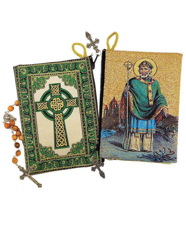 St Patrick Rosary Pouch