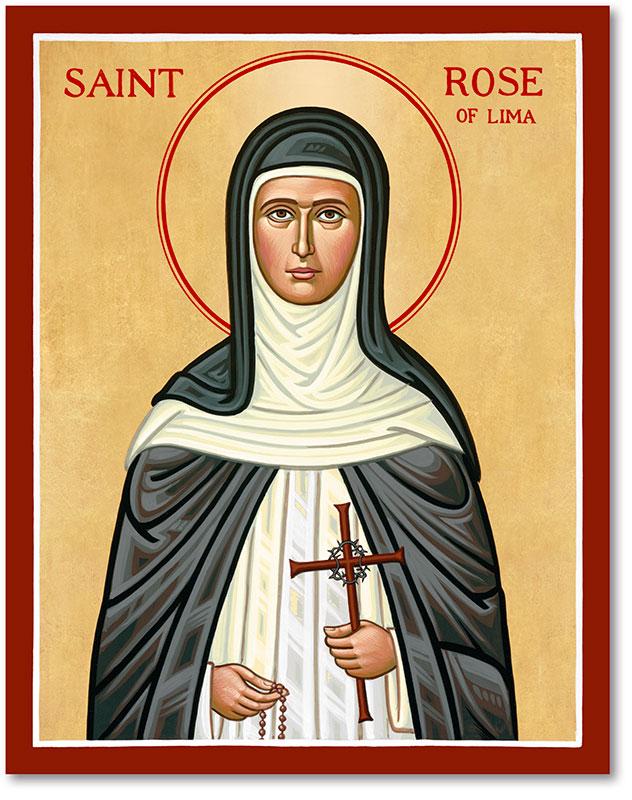 Saint Rose of Lima Icon Magnet