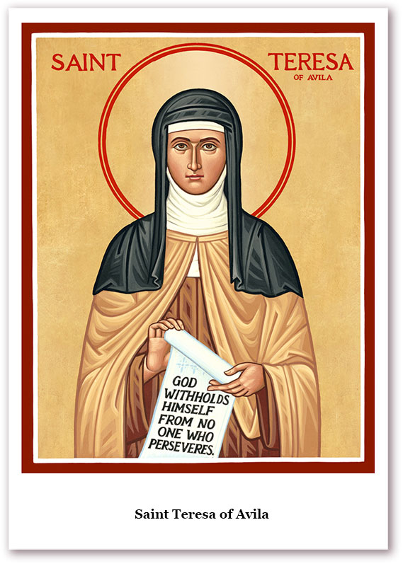 St. Teresa of Avila Holy Cards