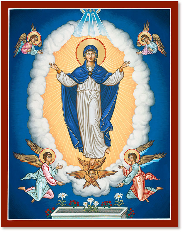 The Assumption of the Virgin Mary Icon
