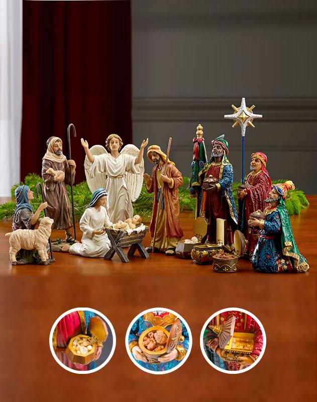 Three Kings Nativity Set - 14-inch basic