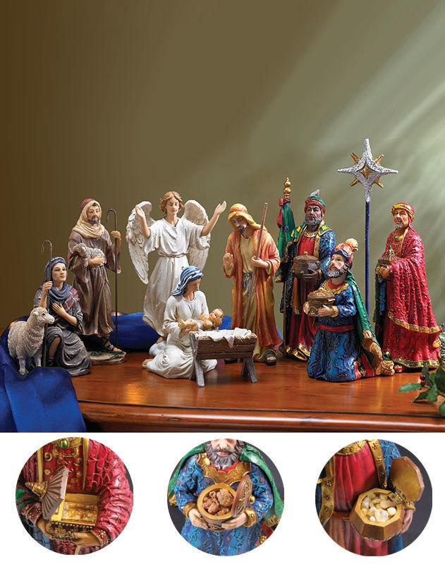 Three Kings Nativity Set Monastery Icons