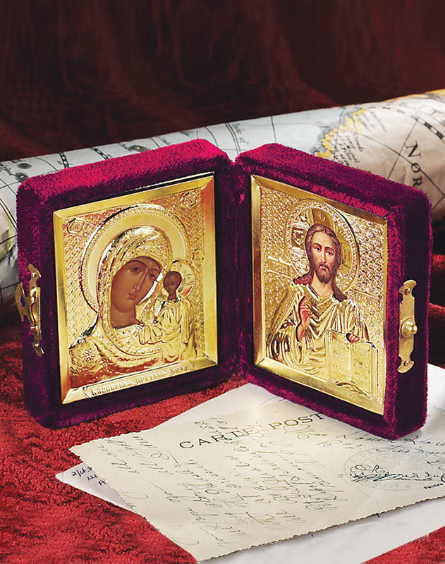 Travel Icons, Diptych, russian icons