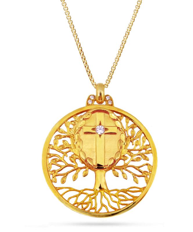 Tree of Life Cross Pendant