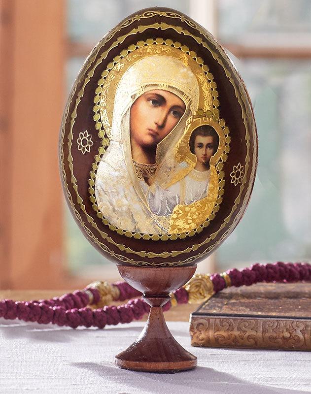 Our Lady of Kazan Icon Egg
