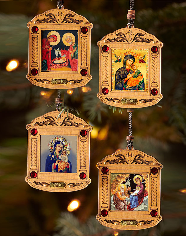 Wooden Icon Ornament Set