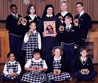 Students of the Assumption School in New Jersey