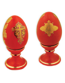 Two-Sided Porcelain Red Egg