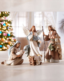 5-figure Bethlehem Nights Nativity set