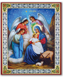 Adoration of the Angels Mini-Icon