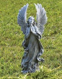 Adoring Angel Indoor-Outdoor Statue