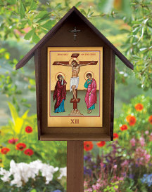 Set of 14 All-Weather Stations of the Cross with Polywood Shrines