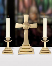 Altar Set with IHS Cross