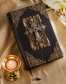 Amethyst Crystals Jeweled KJV Bible