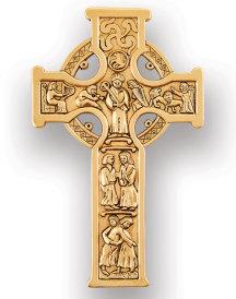 Antique Gold Finish Celtic Cross