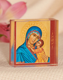 Blue Madonna Acrylic Glass Desktop Icon