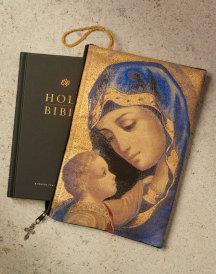 Blue Madonna Bible Pouch
