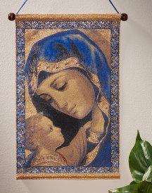 Blue Madonna Wall Hanging