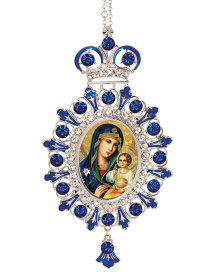Blue Ornament - Blue Madonna