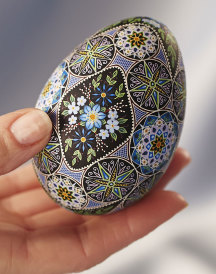 Easter Wildflowers Fine Art Egg