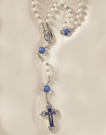Sapphire and Pearl Rosary