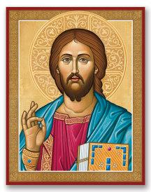 Byzantine Christ portrait icon