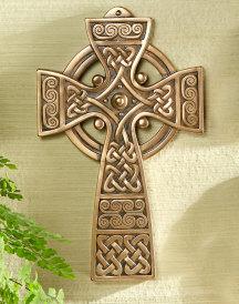 Celtic Brass Resin Cross