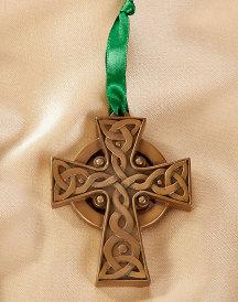 Celtic Cross ornament brass resin