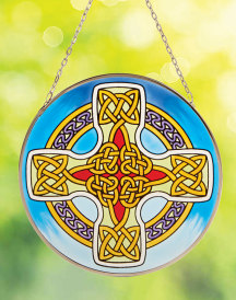 Celtic Cross Round Suncatcher