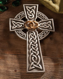 Celtic Wedding Rings Cross