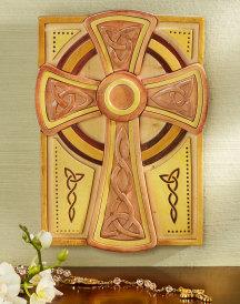 Celtic Wooden Mosaic Cross