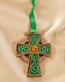 Celtric Cross ornament embroidered