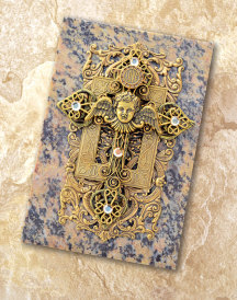 Cherubic Cross Soapstone Box