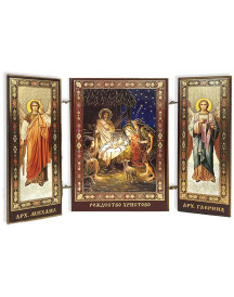 Children's Angel Nativity Triptych