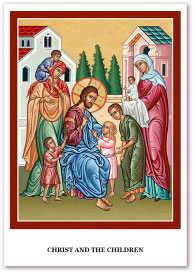 Christ and the Children holy cards