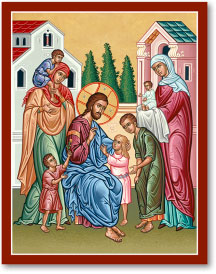 Christ and the Children icon - 4.5